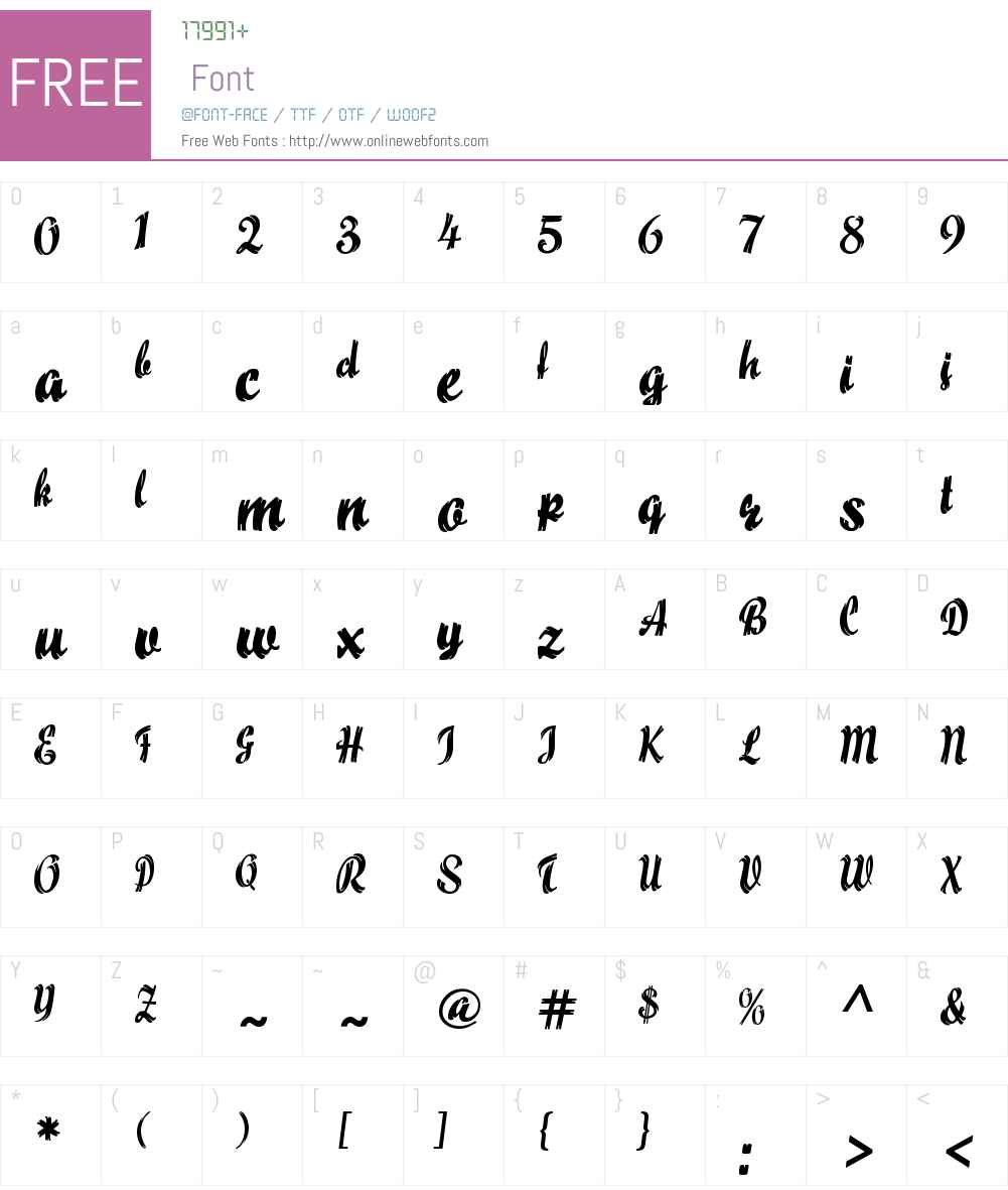 Maize Font Screenshots