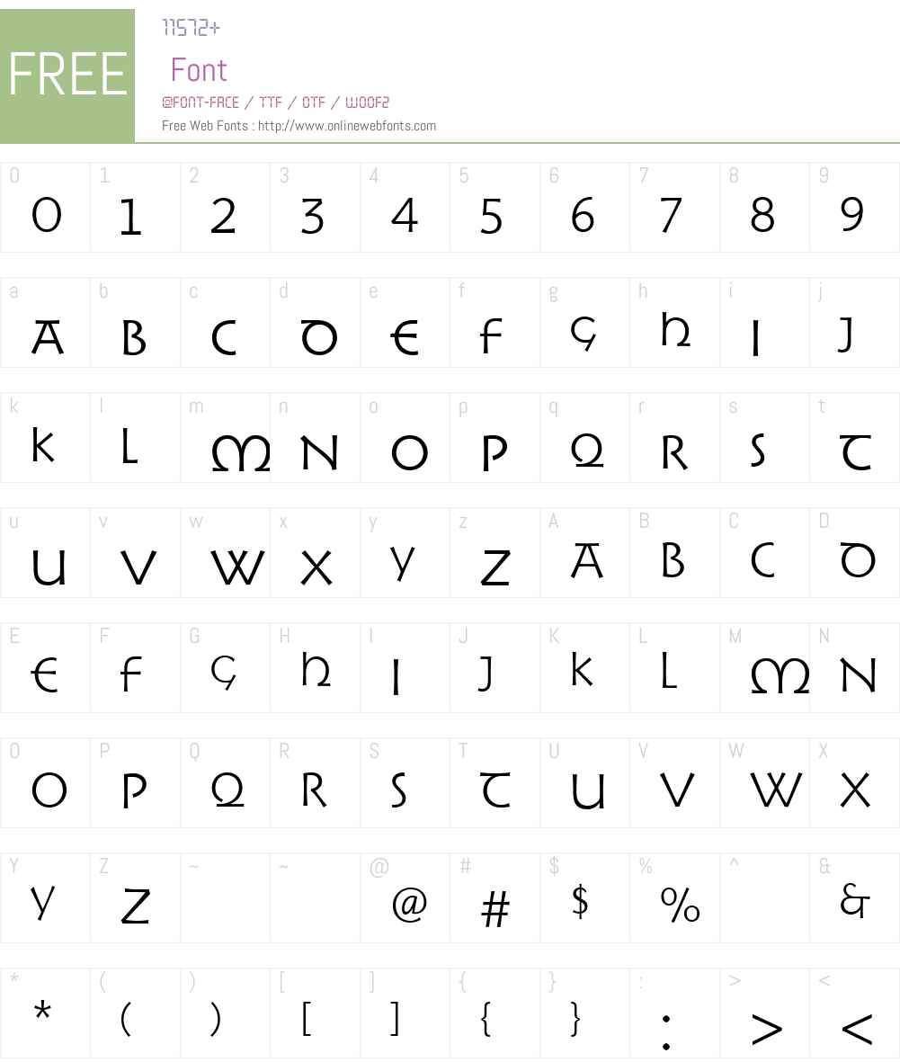 MuncW00-Light Font Screenshots