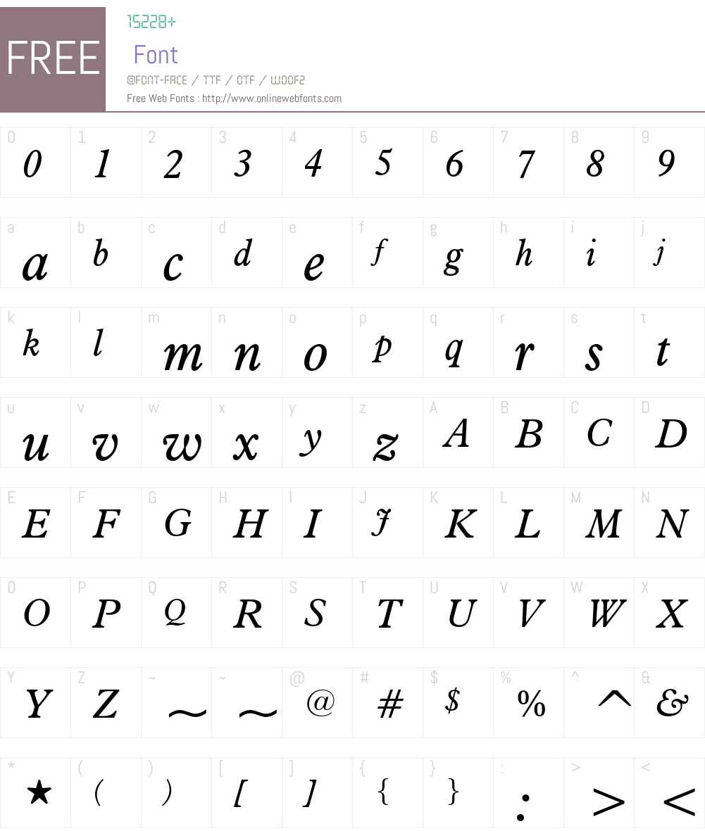 Aldine 721 Font Screenshots