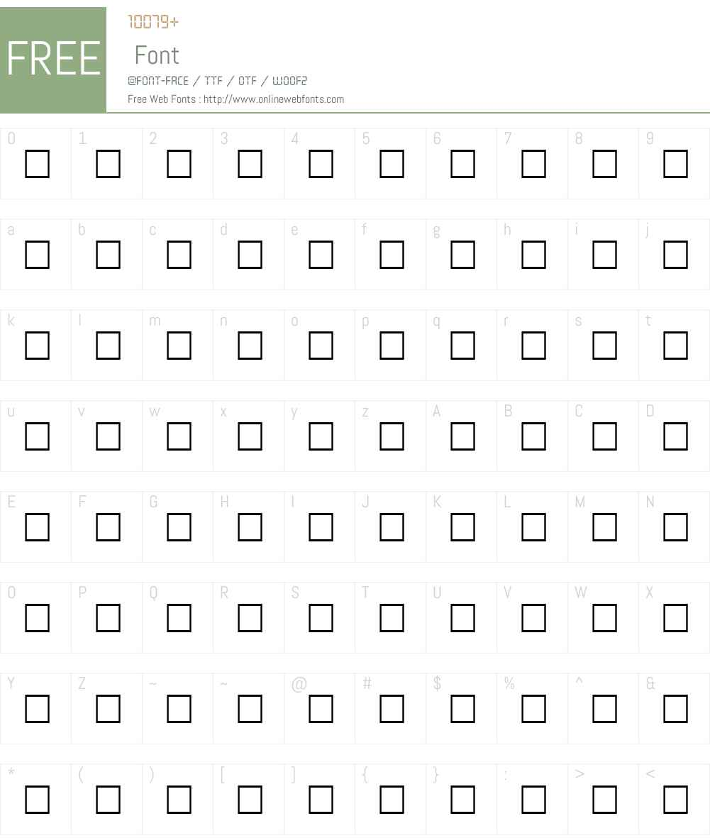CLASSICBOOKER Font Screenshots