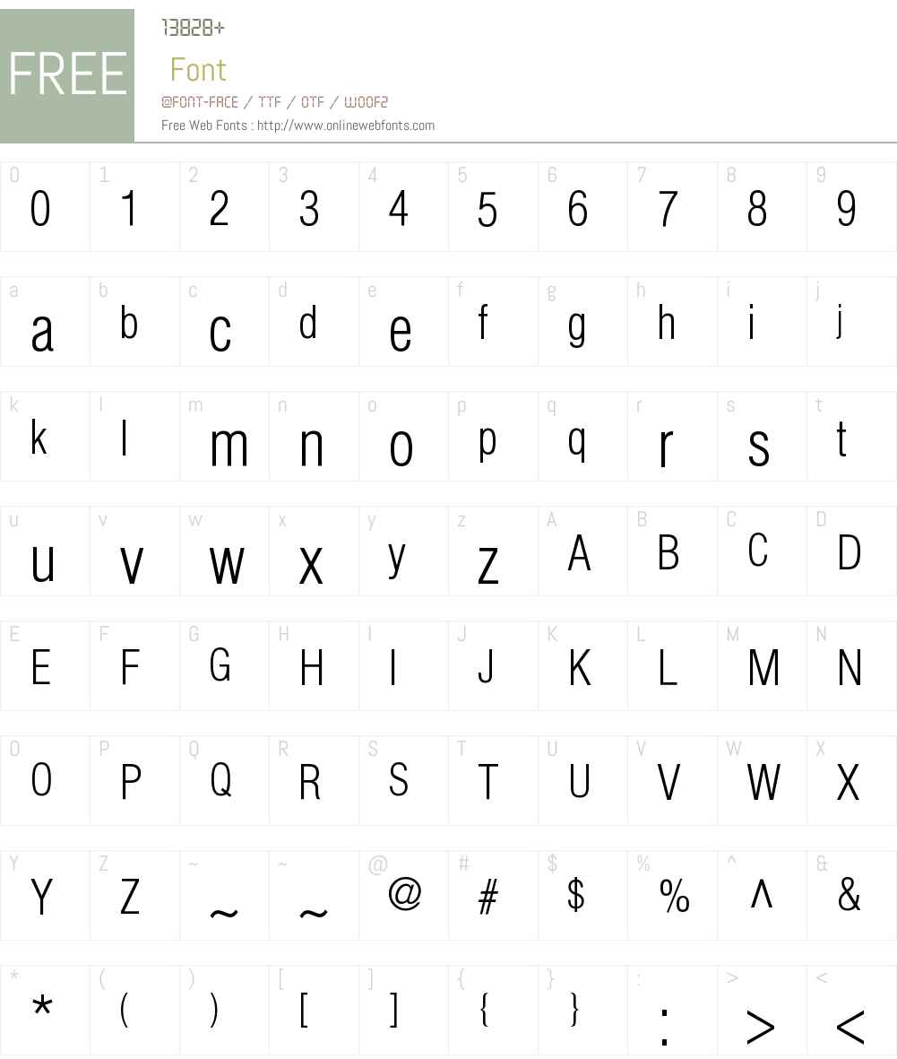 HeliosCondLight Font Screenshots