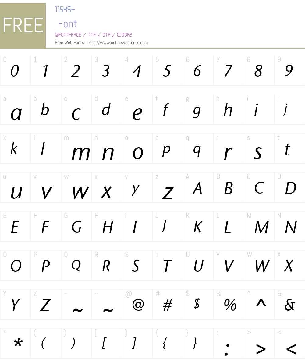 StoneSansITCW01-MediumIt Font Screenshots