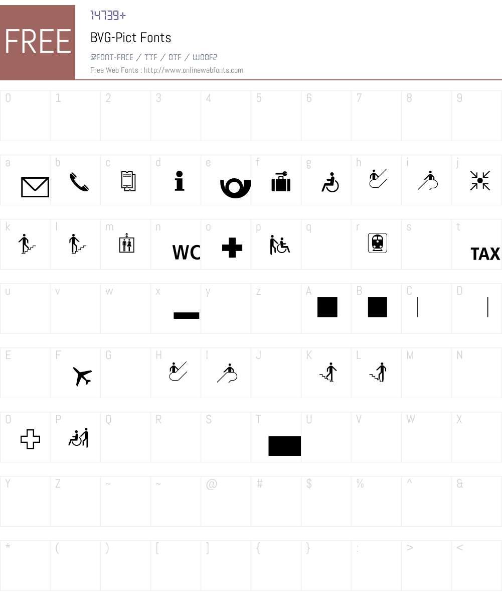 BVG Font Screenshots
