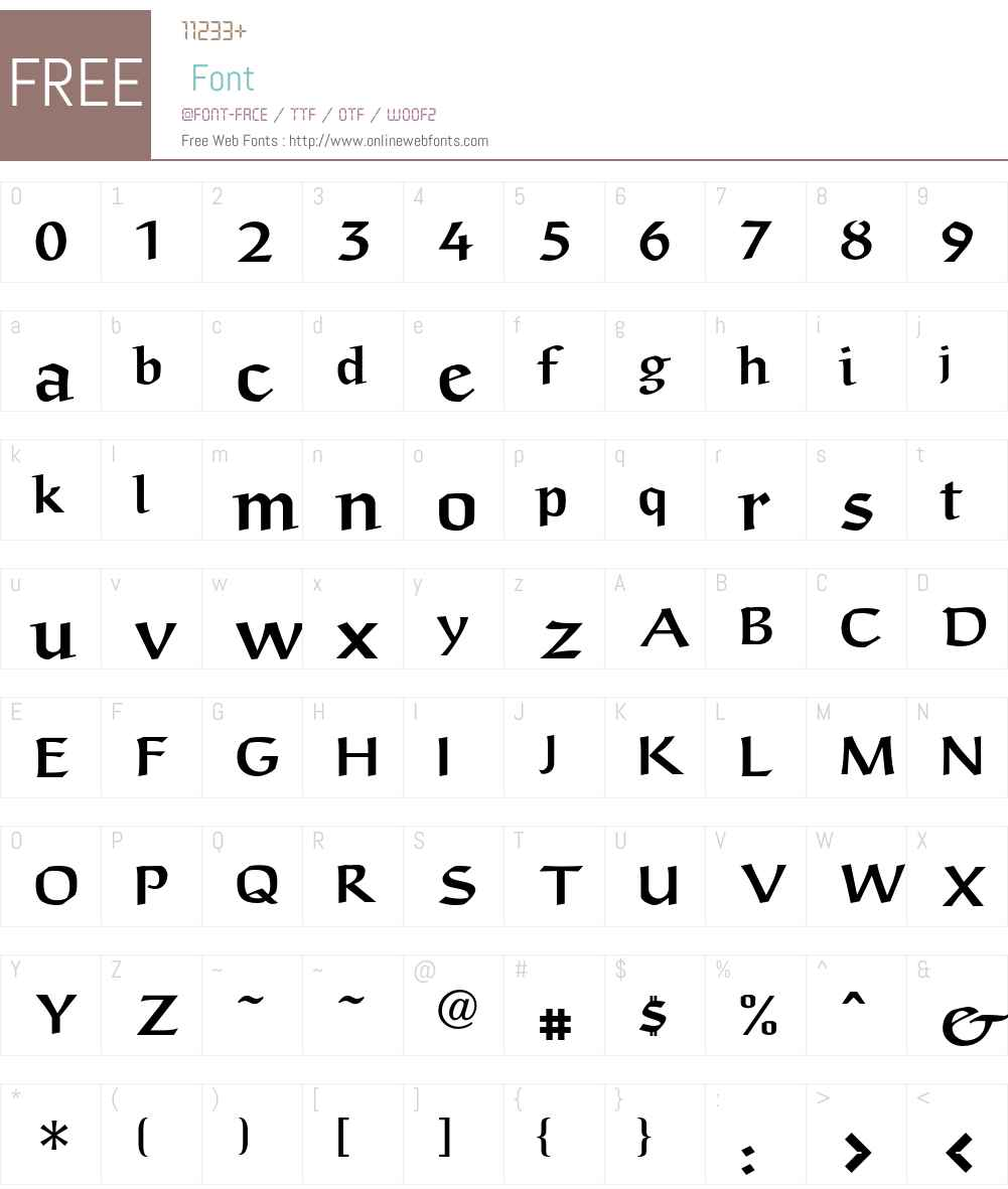 Anasdair LT Std Regular Font Screenshots