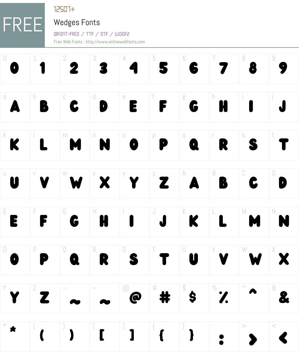 Wedges Font Screenshots