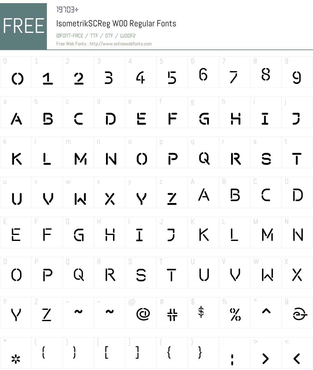 Isometrik Font Screenshots
