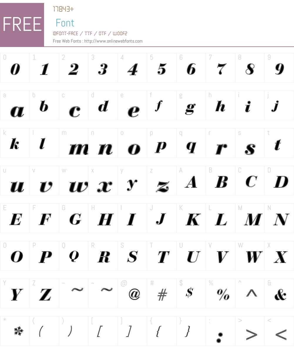Bauer Bodoni D In1 Font Screenshots