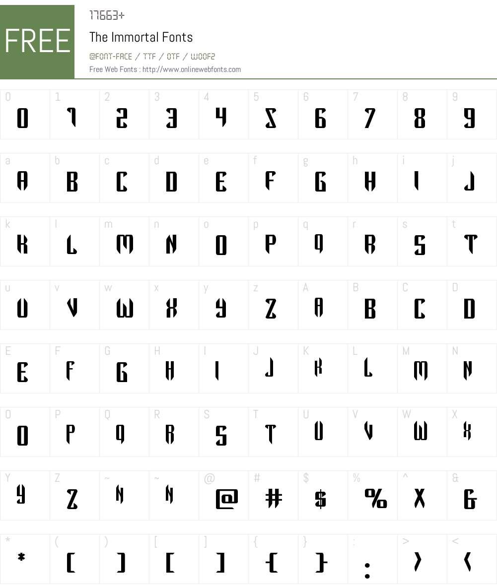 The Immortal Font Screenshots