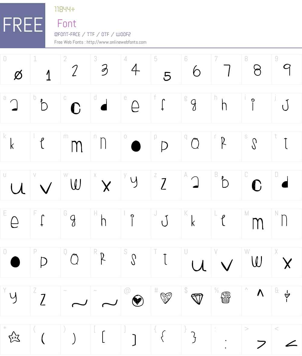 PeanutButterJelly Font Screenshots