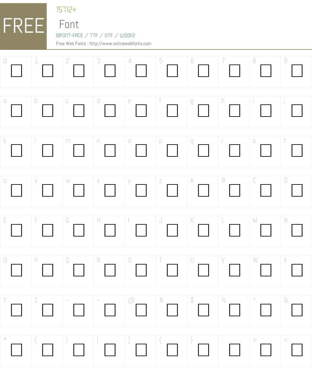 COOK Font Screenshots