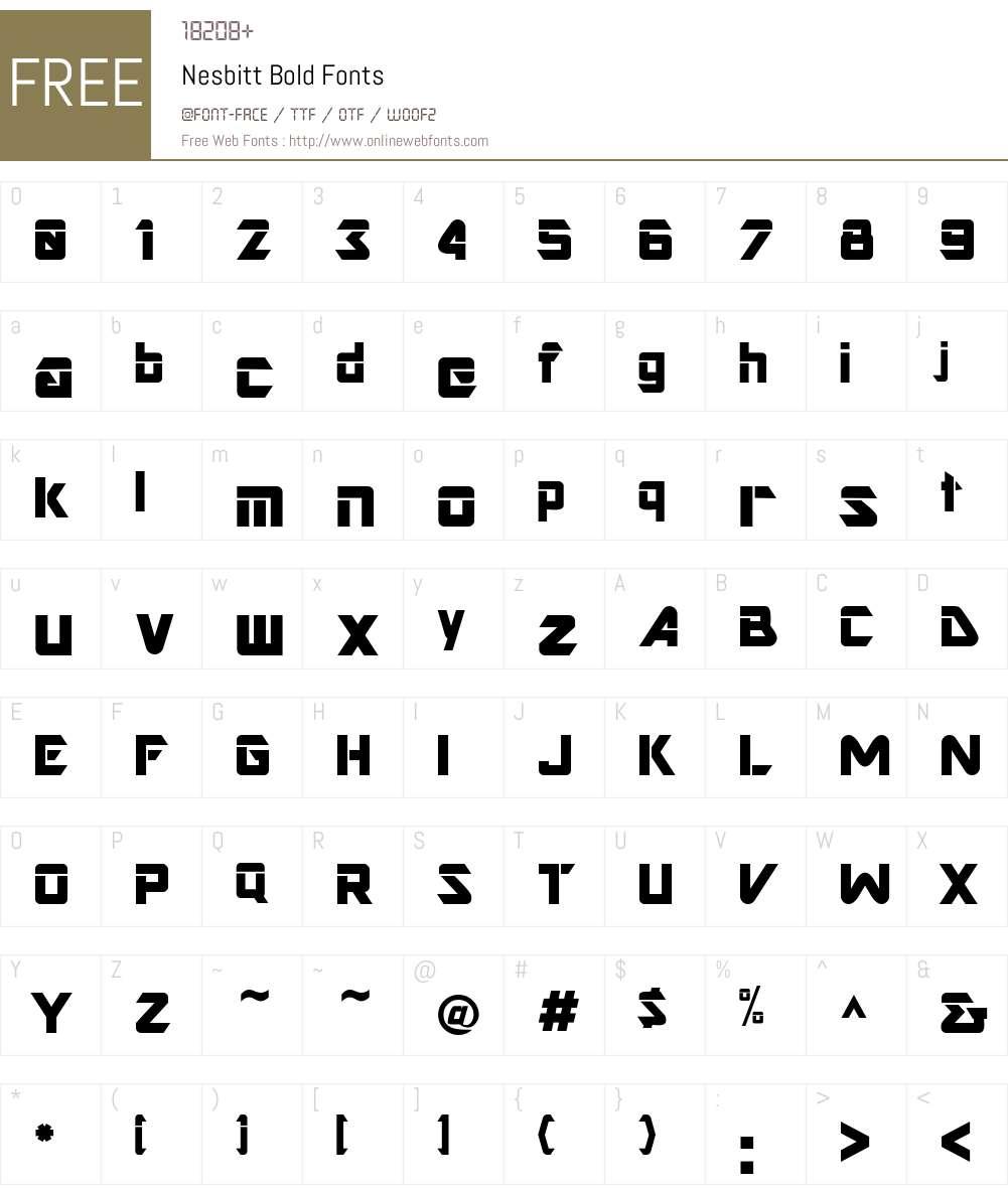 Nesbitt Font Screenshots