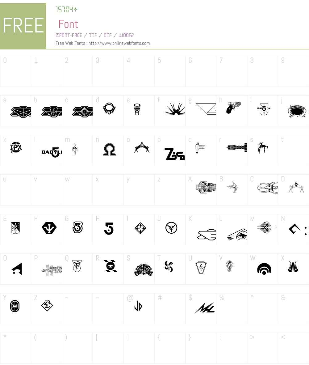 B5Symbols Font Screenshots