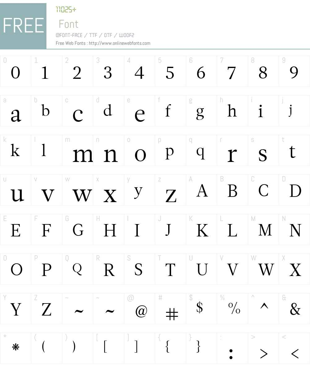 LeituraNewsW01-Roman1 Font Screenshots
