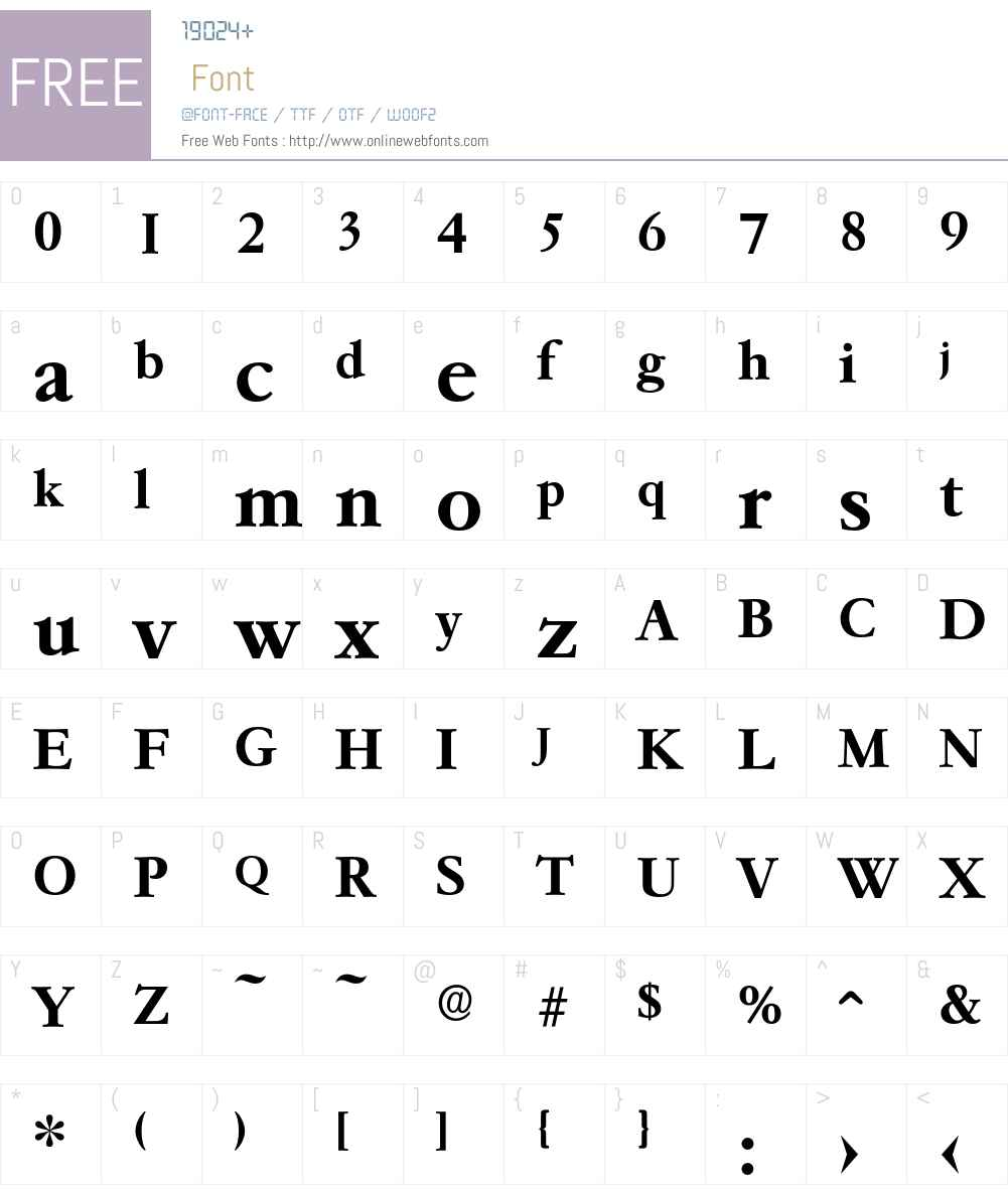 Garemond-DemiBold Font Screenshots