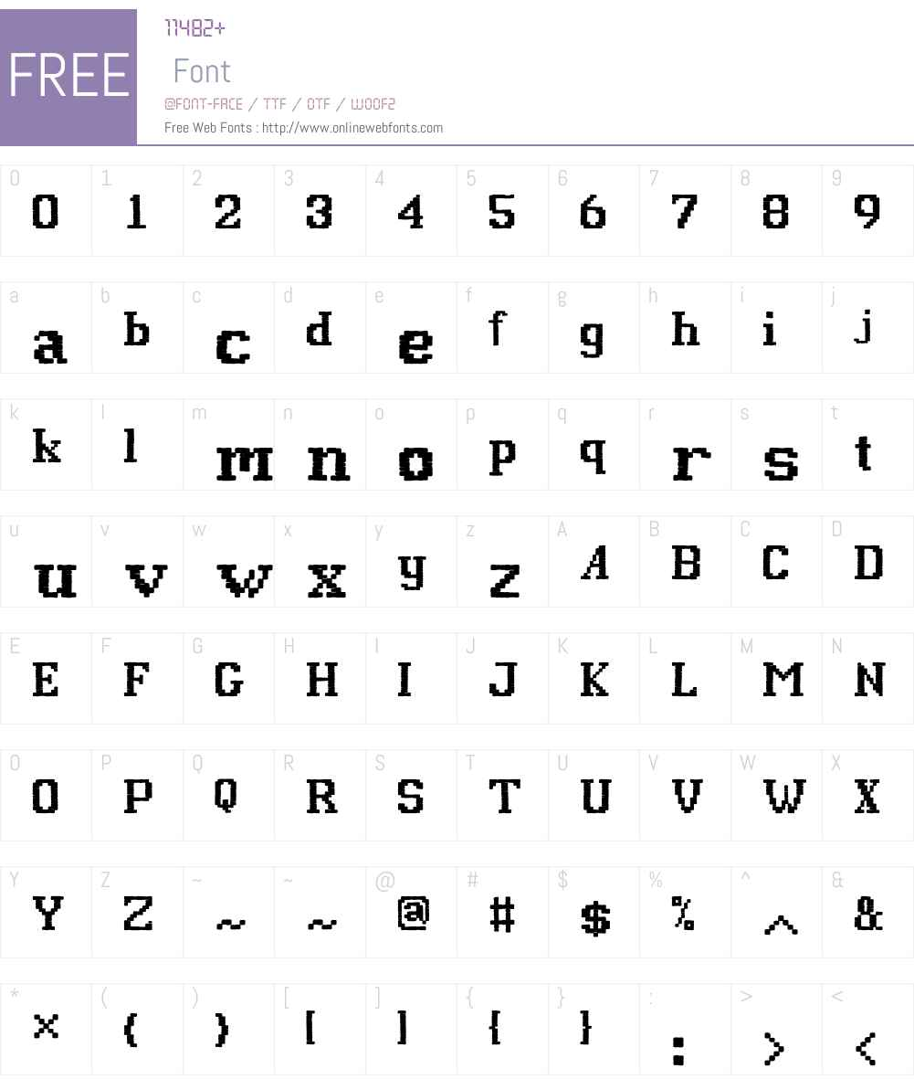 P22FolkArtW01-Stitch Font Screenshots