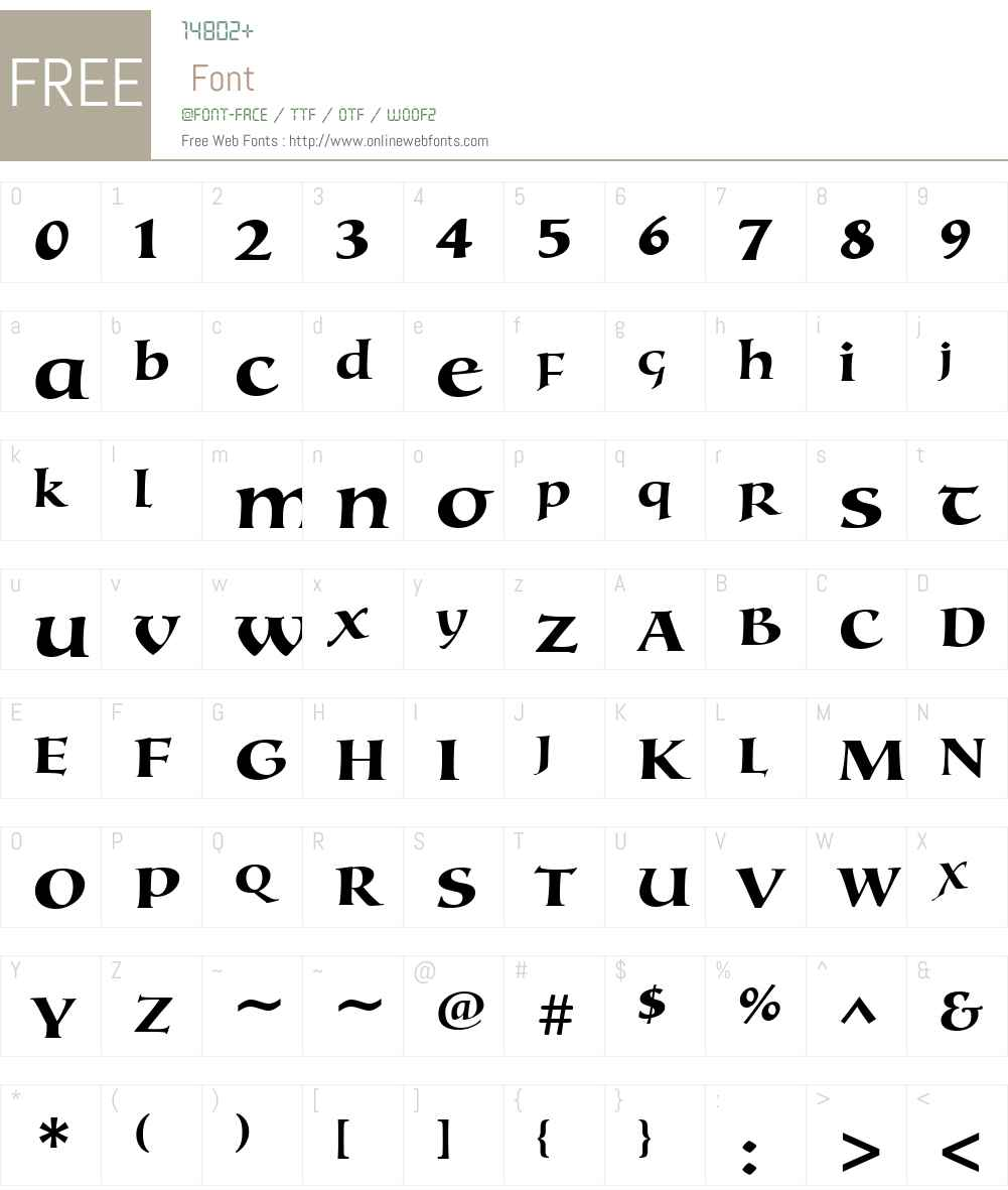 TestamentIIW01-Bold Font Screenshots