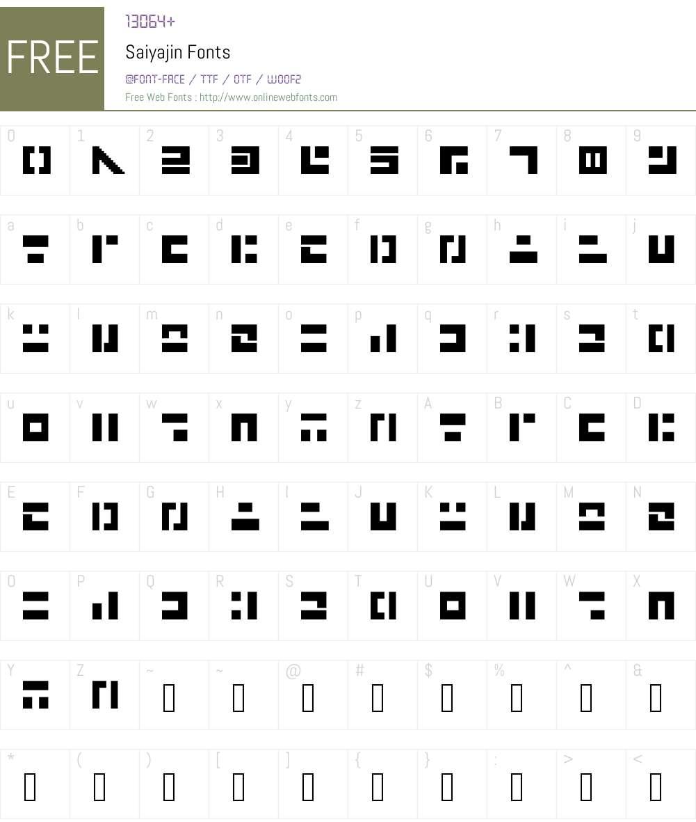Saiyajin Font Screenshots