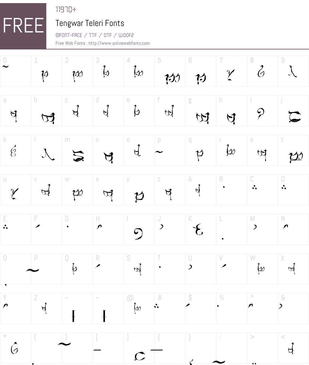 Tengwar Teleri Font Screenshots