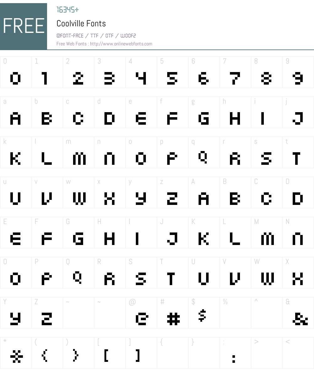 Coolville Font Screenshots