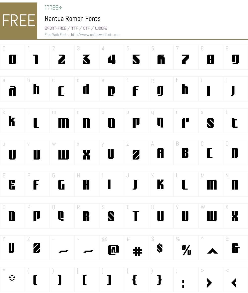 Nantua Font Screenshots
