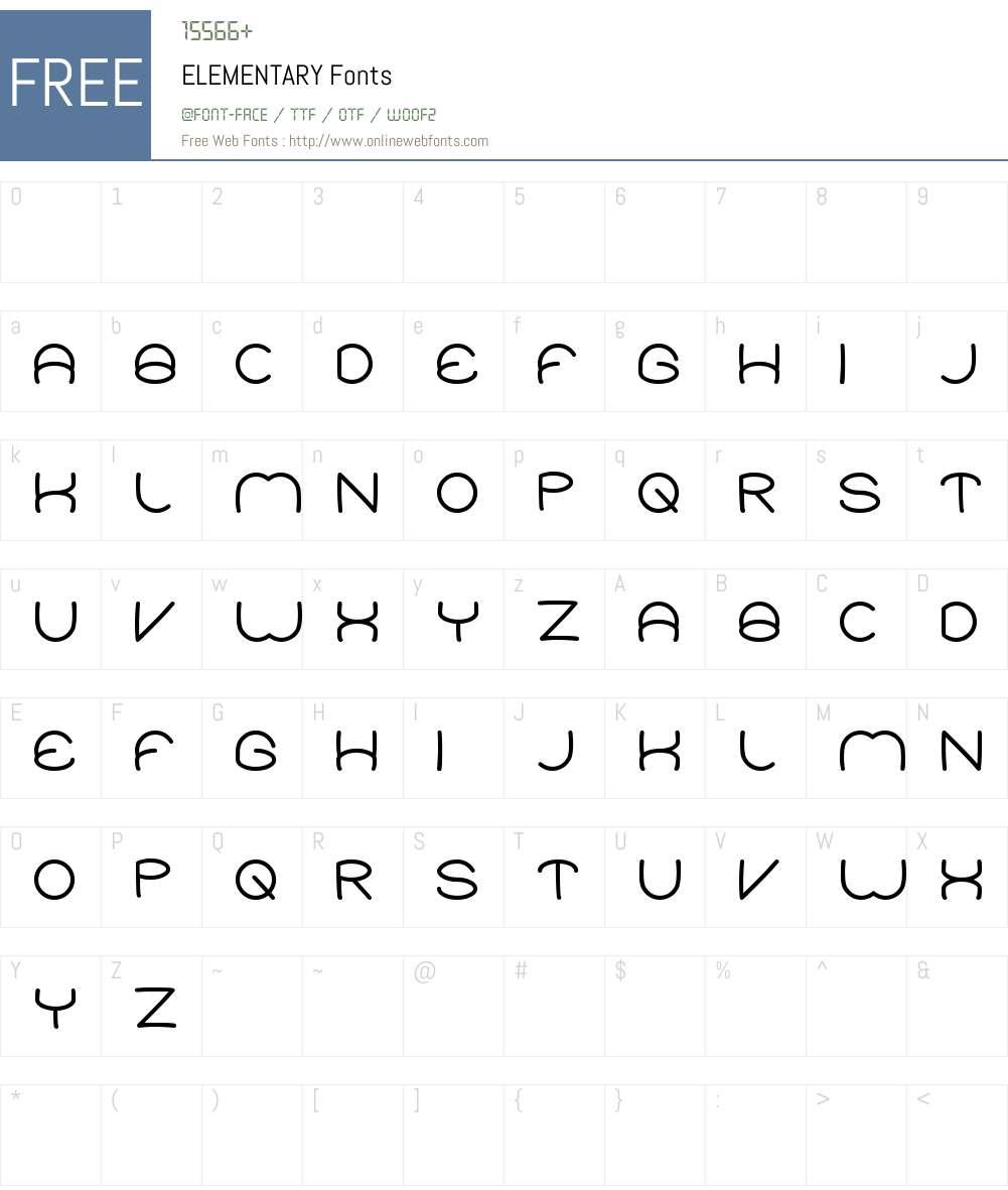 ELEMENTARY Font Screenshots