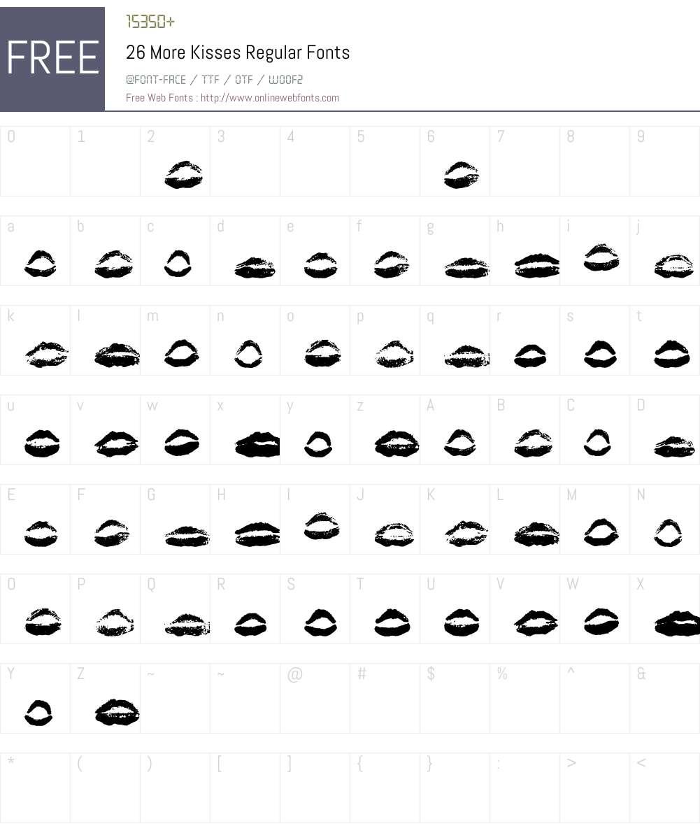26 More Kisses Font Screenshots