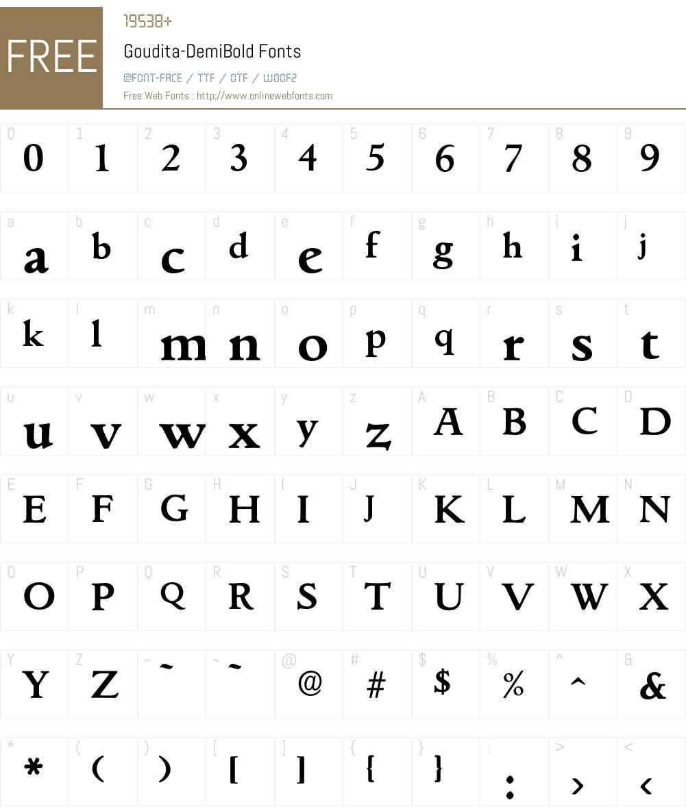 Goudita-DemiBold Font Screenshots