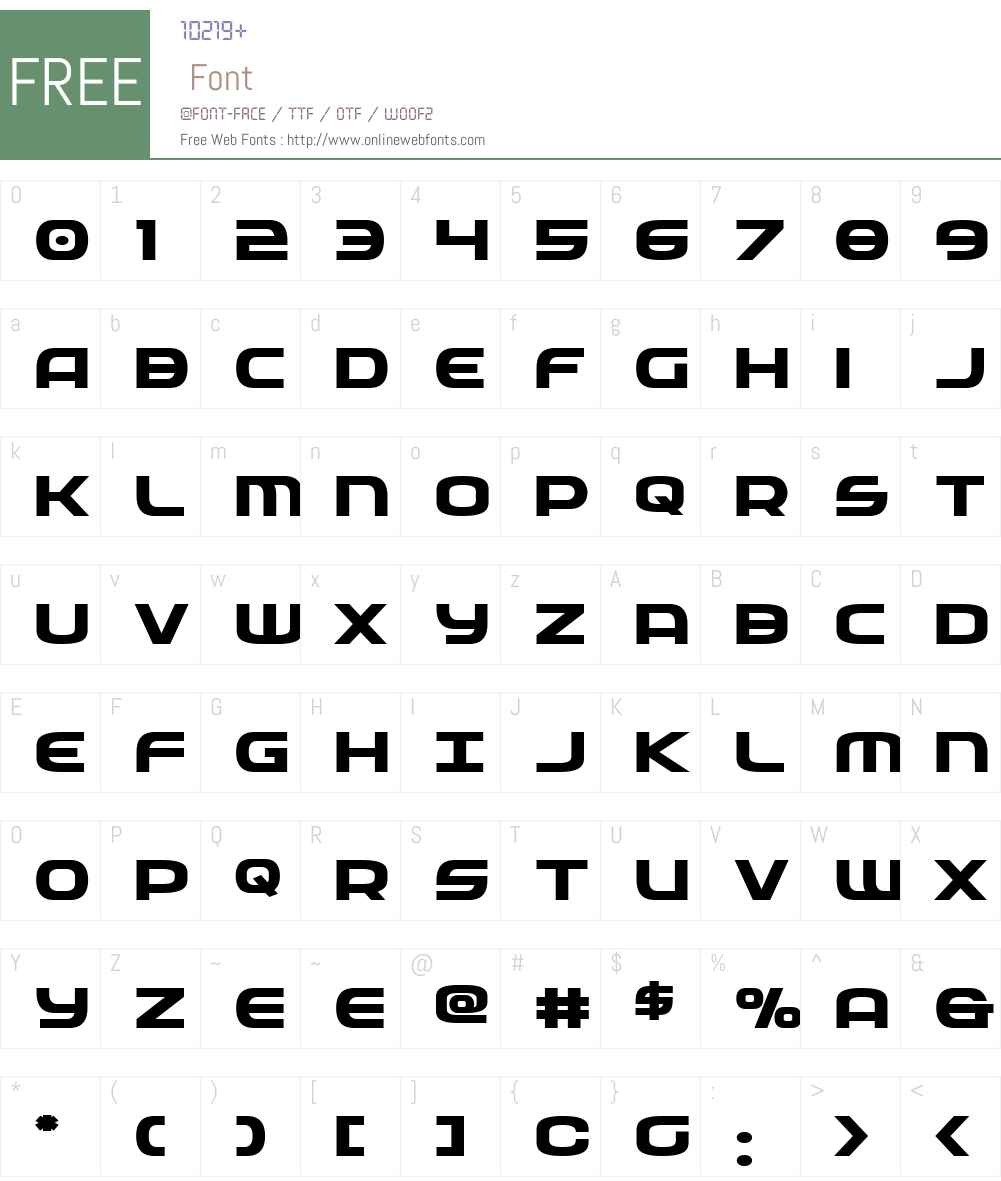 Federal Service Bold Expanded Font Screenshots