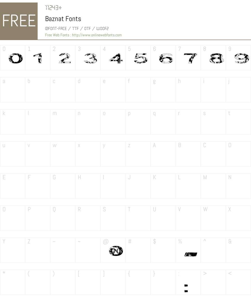 Baznat Font Screenshots