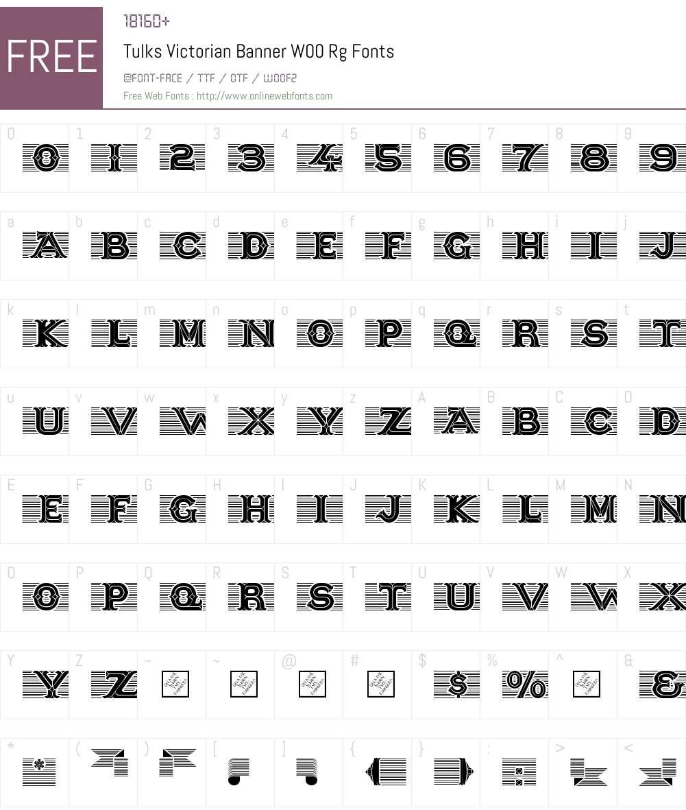 TulksVictorianBannerW00-Rg Font Screenshots