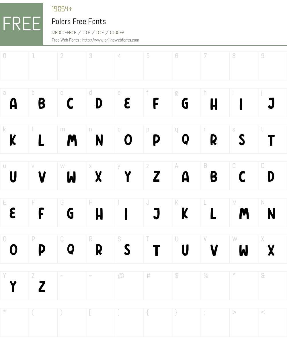 Polers Free Font Screenshots