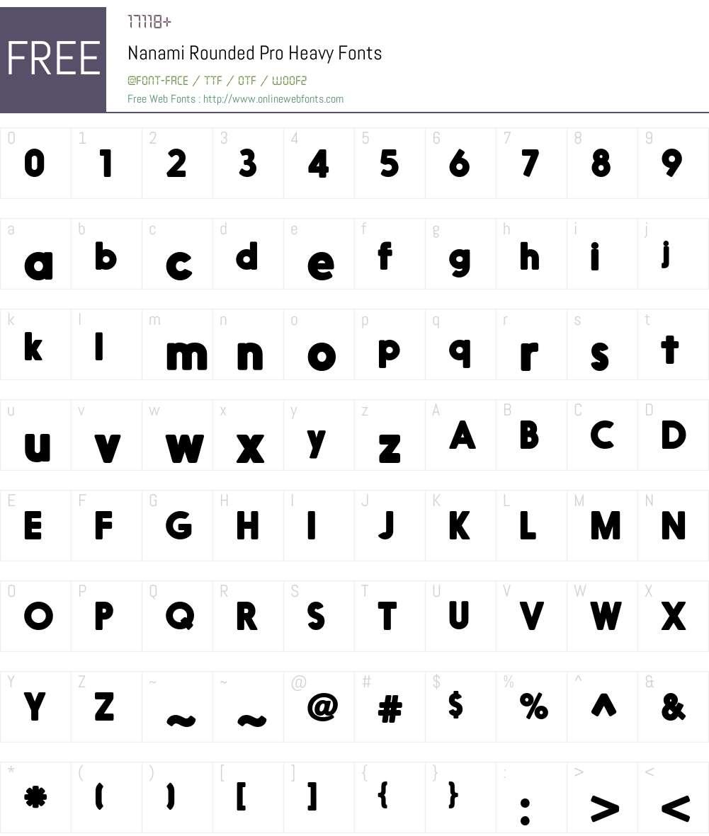 NanamiRoundedPro-Heavy Font Screenshots