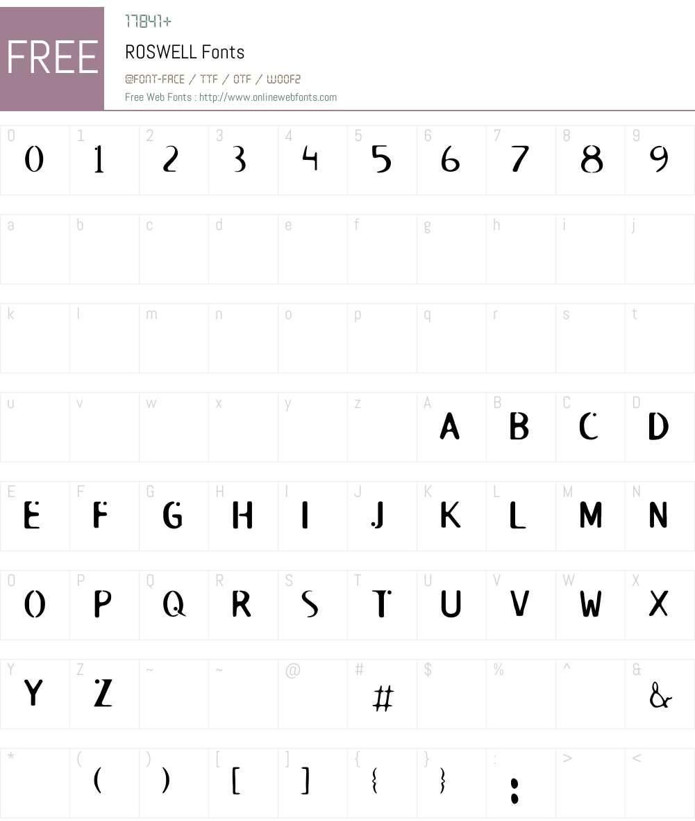 ROSWELL Font Screenshots