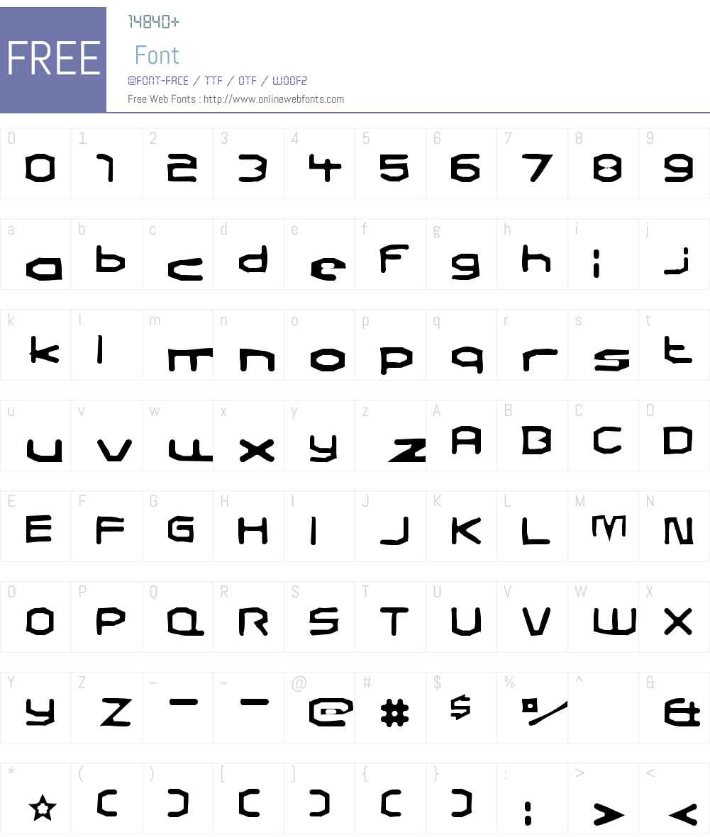 Charles in Charge Gaunt Font Screenshots