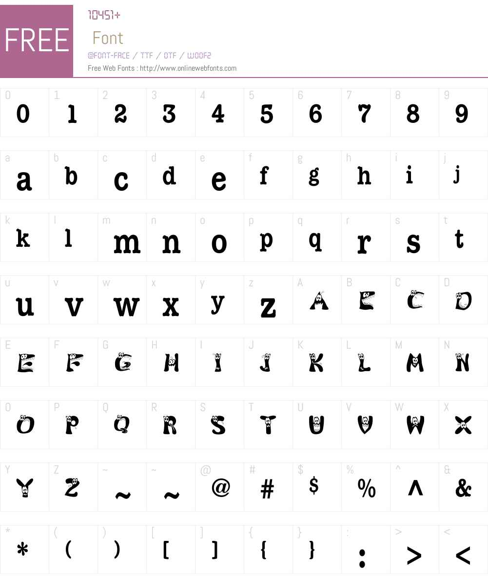 KAMonster Font Screenshots