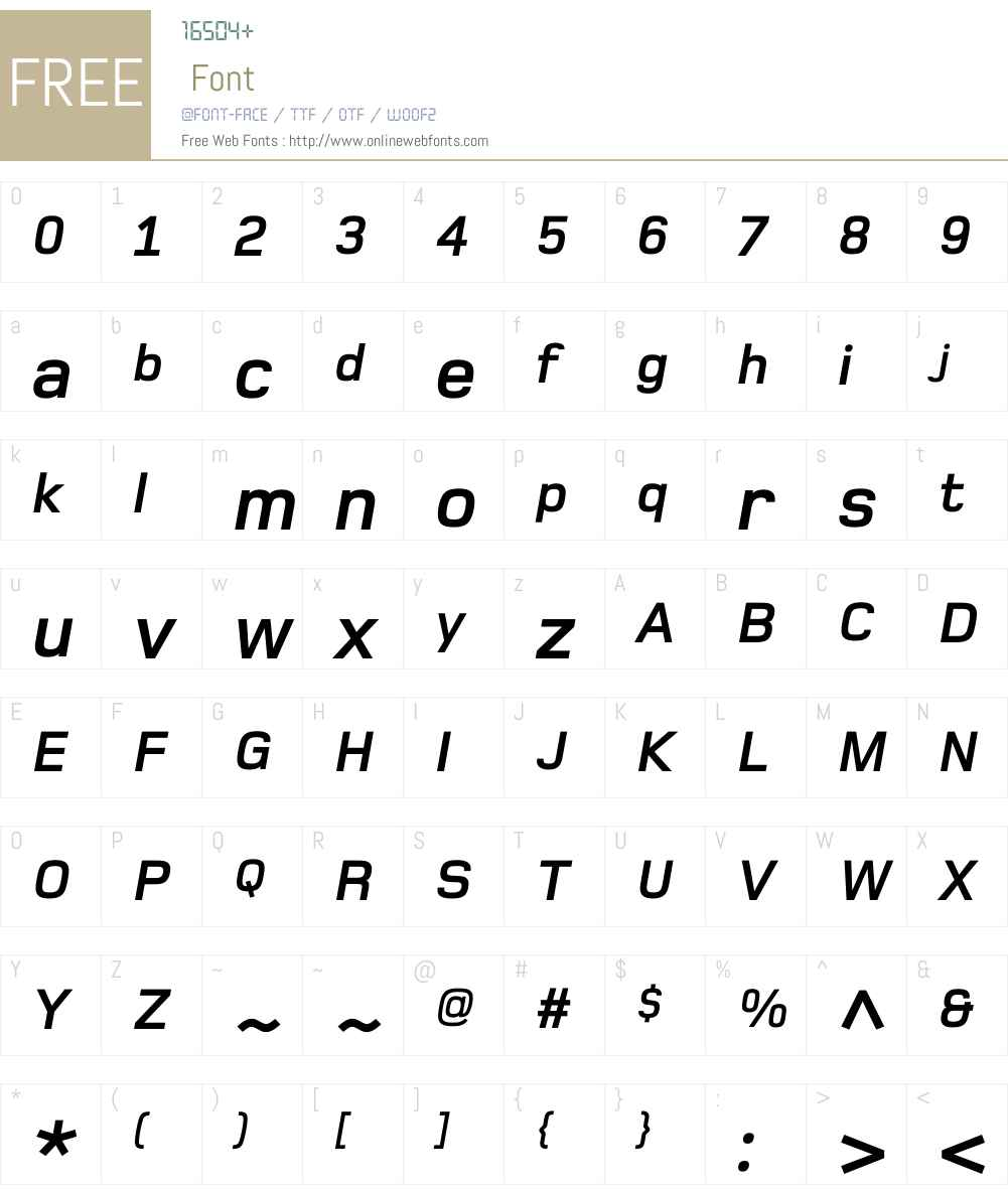 Foundry Monoline Font Screenshots