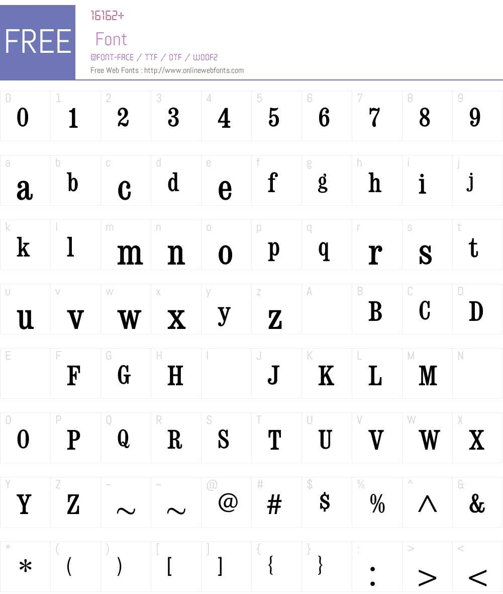 ConsortMediumCondensed Font Screenshots