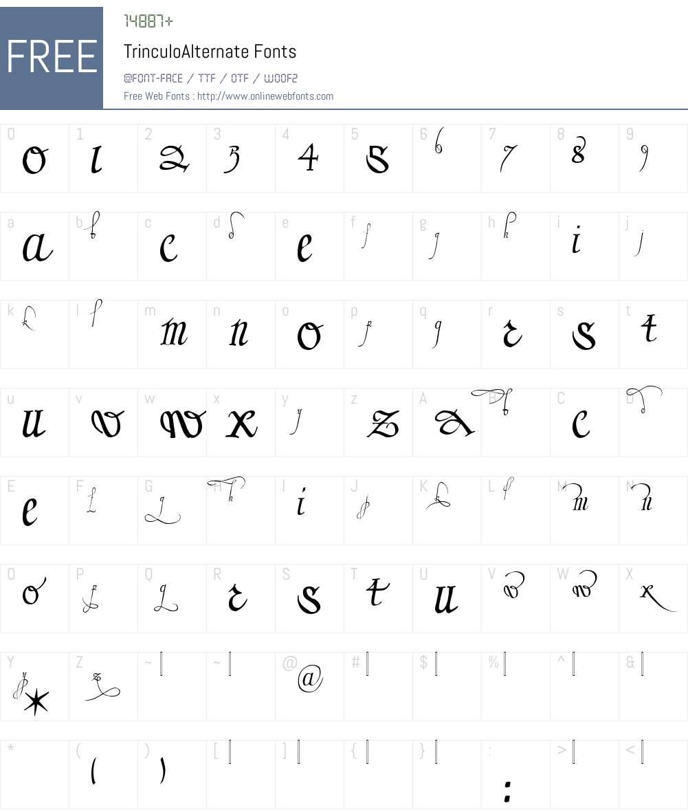 TrinculoAlternate Font Screenshots