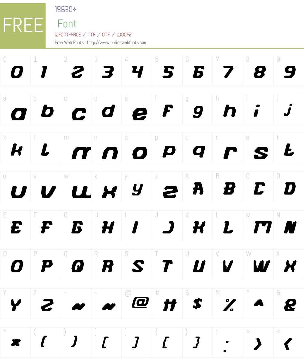 FUTURISTIC-Light Font Screenshots
