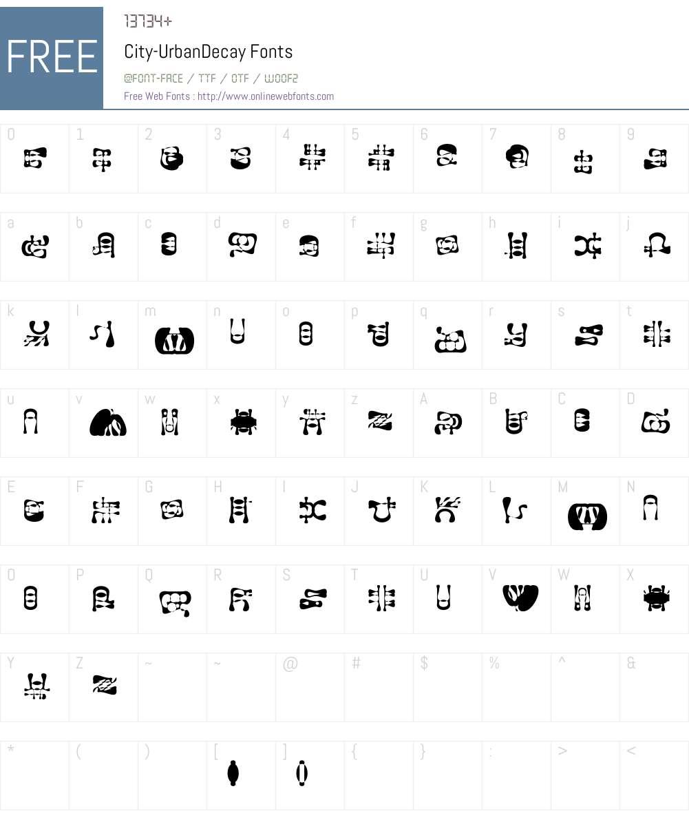 City Font Screenshots
