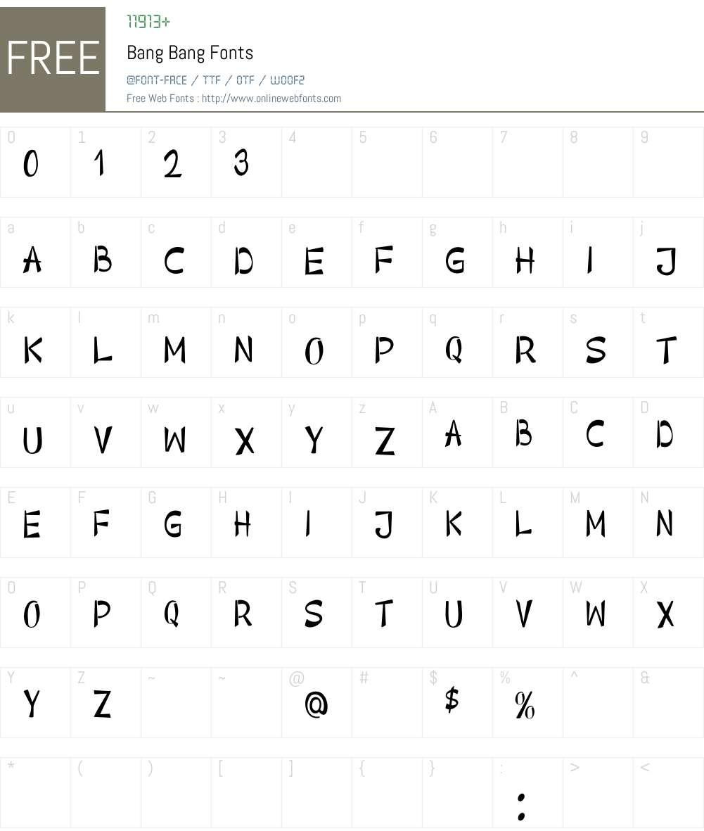 Bang Bang Font Screenshots
