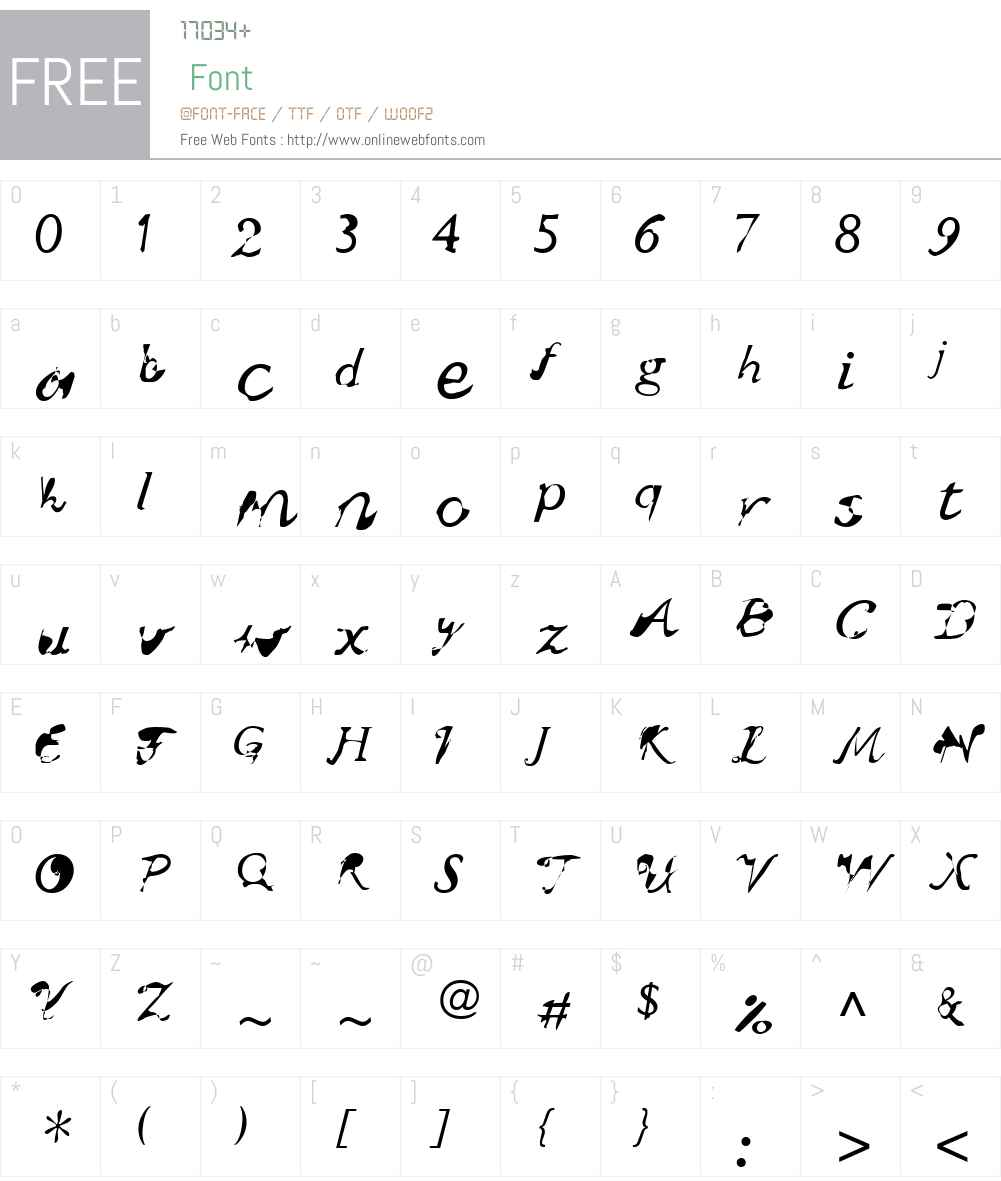 wuestling Font Screenshots