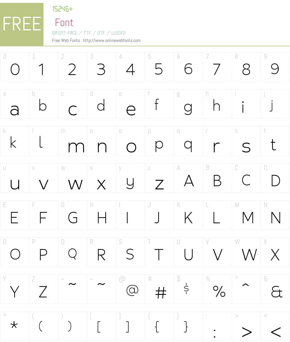 Nuby Medium Font Screenshots