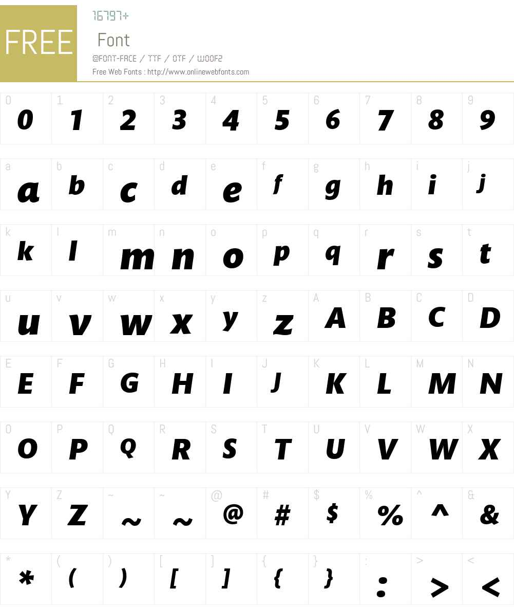 MundoSansW01-BlackItalic Font Screenshots