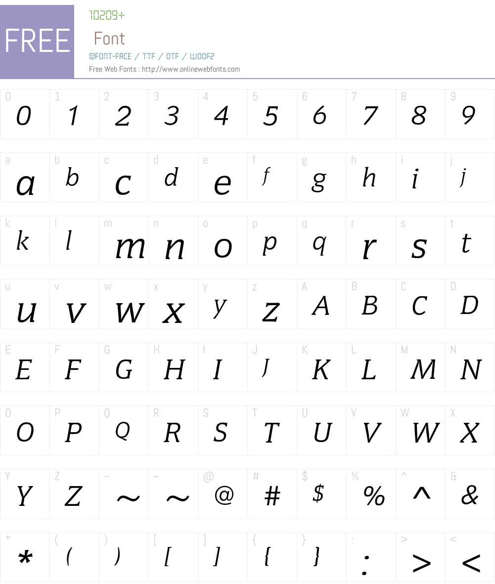 CongressEF Font Screenshots