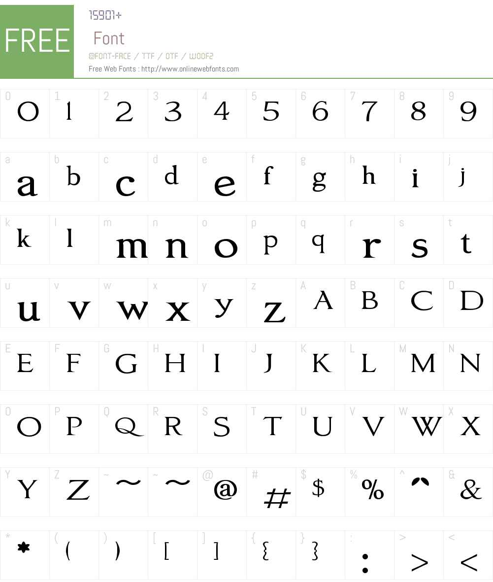 OxoniaRomanW01-Regular Font Screenshots