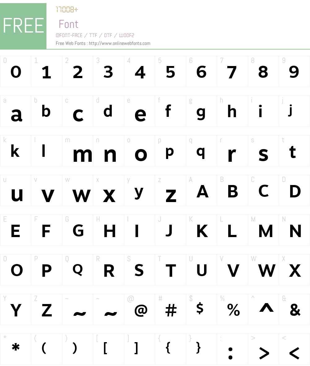 MotivaSnsW01-Bd Font Screenshots