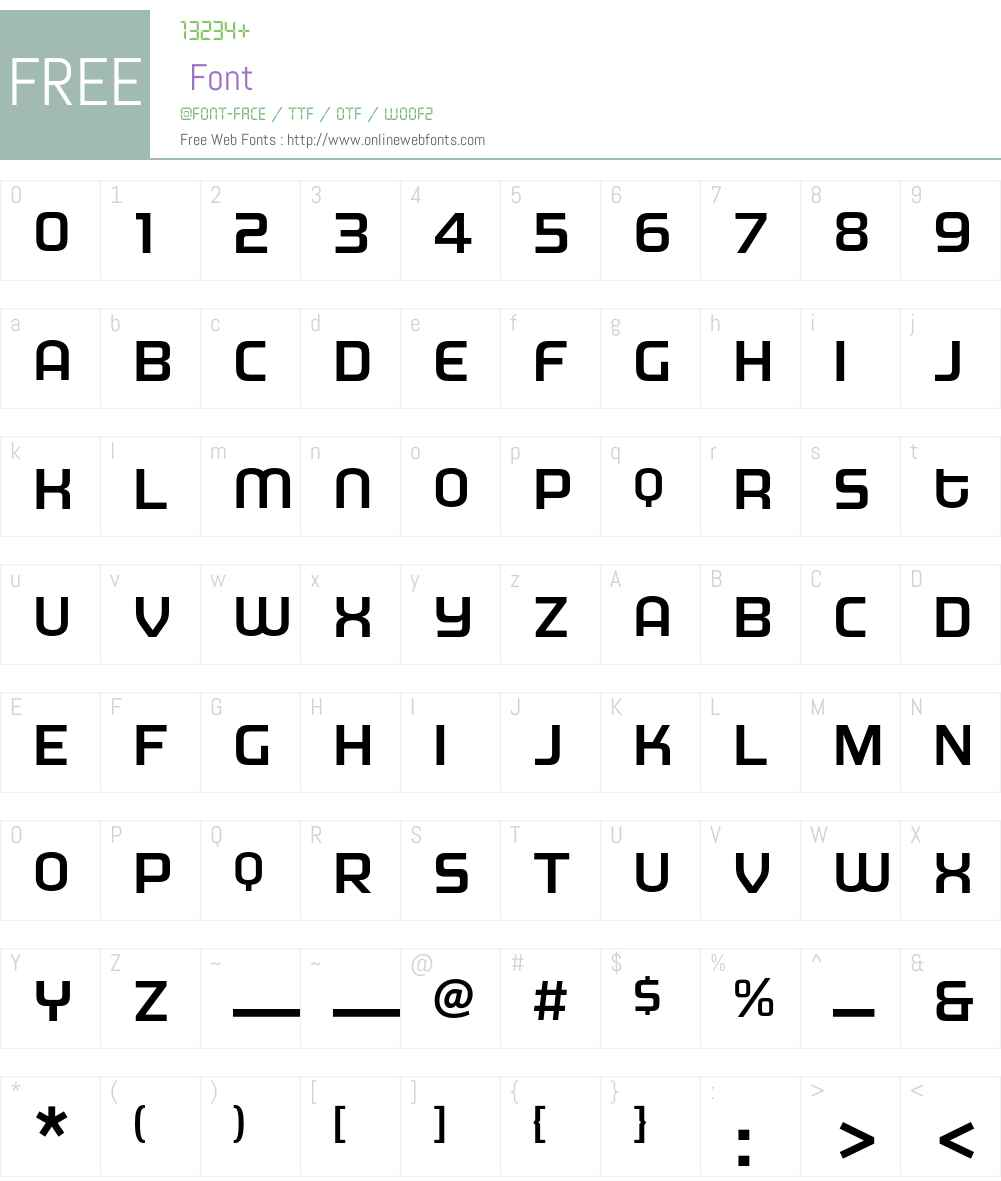 MorganBig Font Screenshots