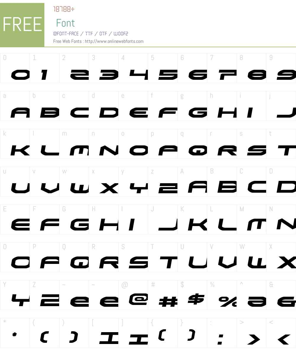 Omni Boy Semi-Italic Font Screenshots
