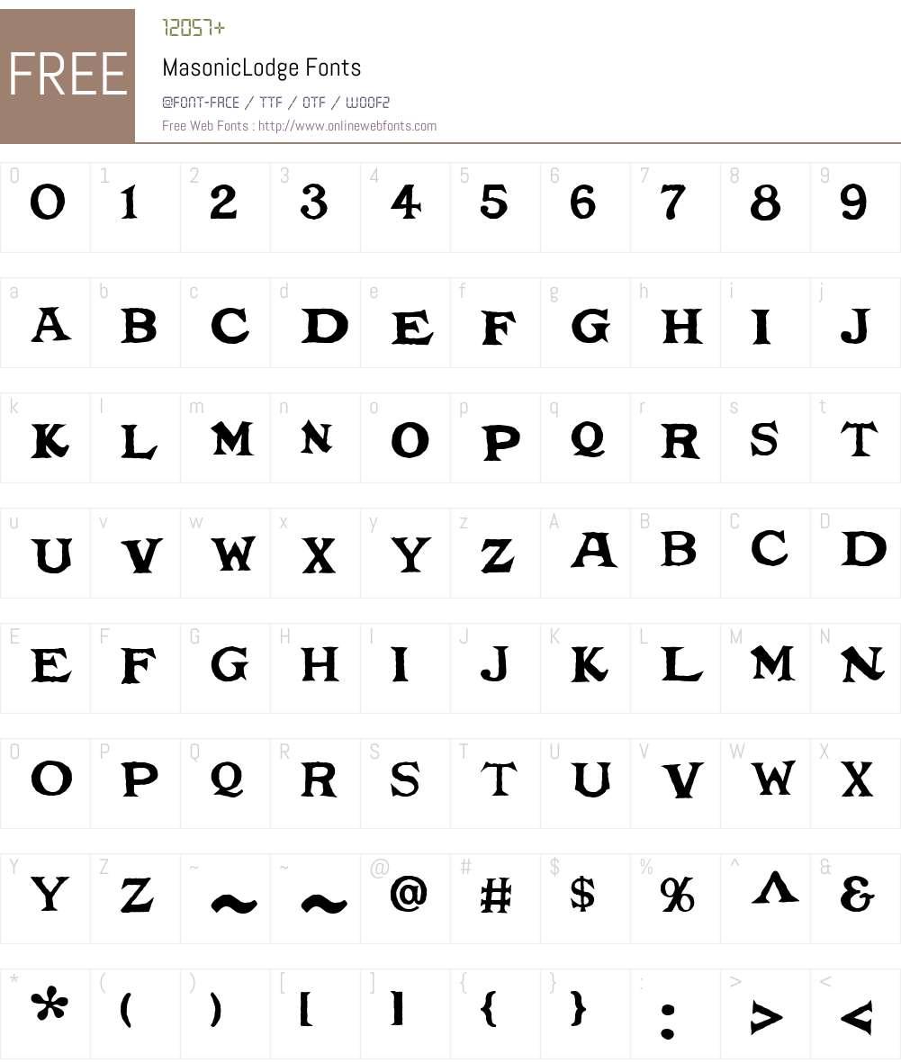 MasonicLodge Font Screenshots